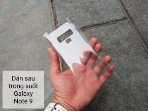 Dán sau trong suốt Galaxy Note 9
